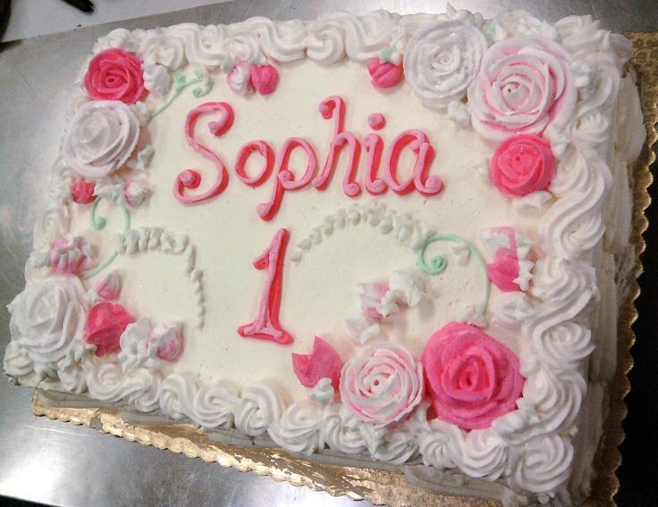 1st Birthday Sheet Cake