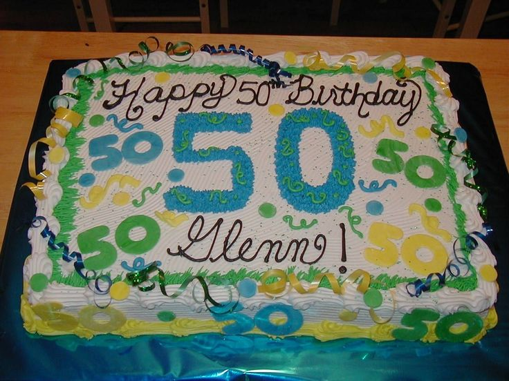 50th Birthday Sheet Cake Decorating Ideas
