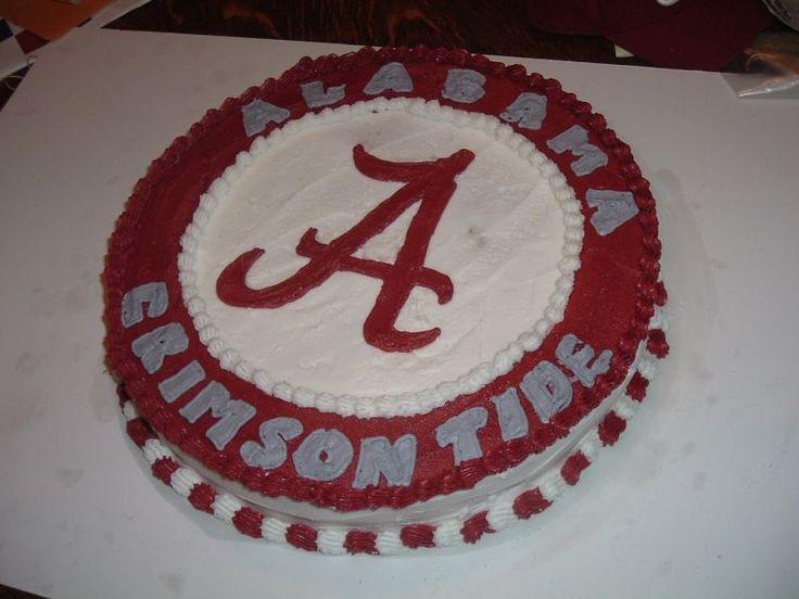 Alabama Crimson Tide Football Birthday Cake