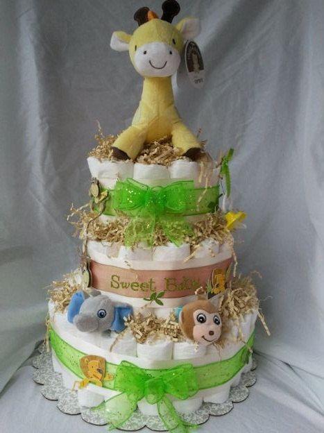 Baby Jungle Theme Diaper Cake