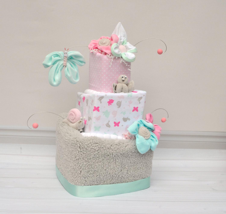 Baby Shower Diaper Cake for Girl
