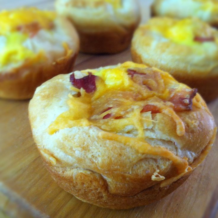 Bacon and Egg Cupcakes Breakfast