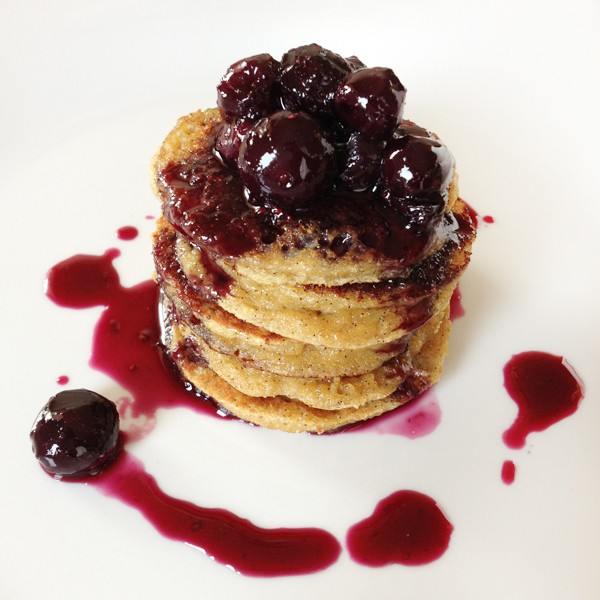 Banana Pancakes with Blueberries
