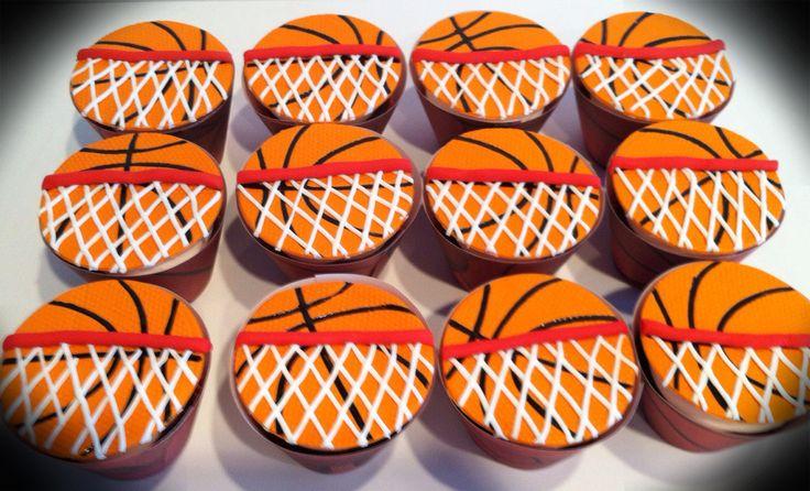 Basketball Cupcakes Decorating