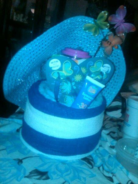 Beach Towel Cake