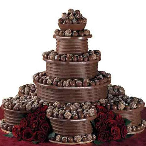 Beautiful Chocolate Wedding Cake