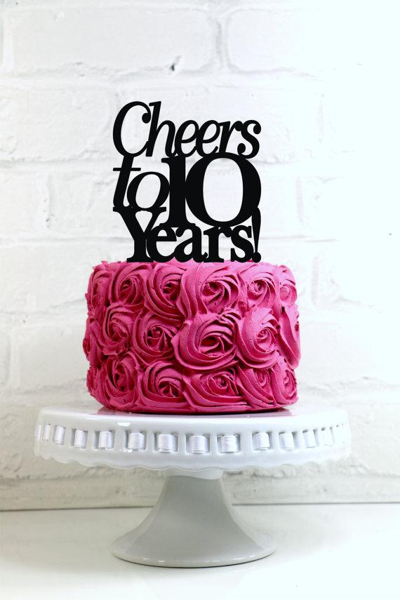 Birthday Cake 10 Year Anniversary