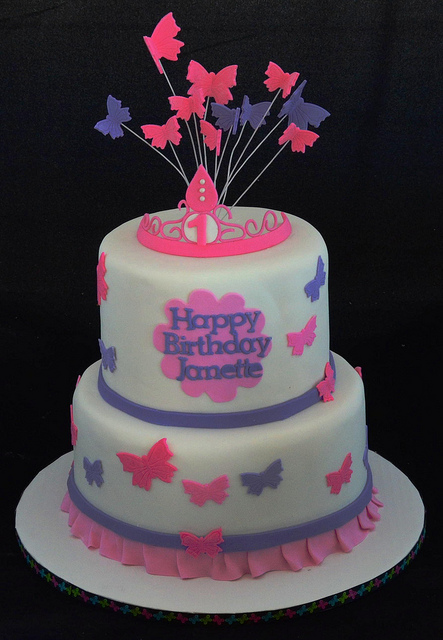 Birthday Cake with Butterfly