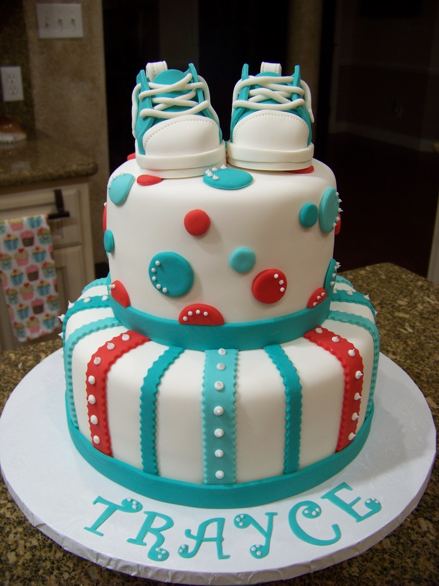 Blue Baby Shower Cake