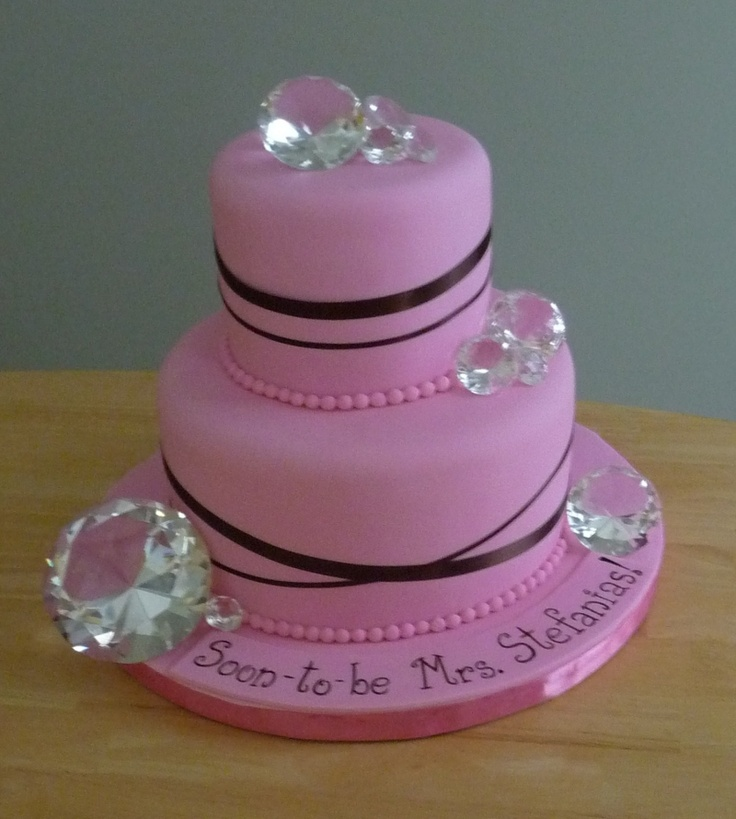 10 Photos of Bridal Shower Sheet Cakes With Bling