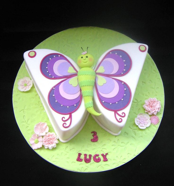 Butterflies Birthday Cake