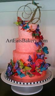 Butterfly Wedding Cakes Buttercream