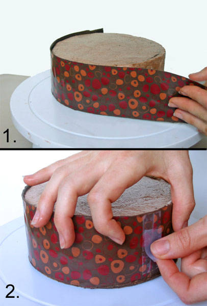 8 Photos of Cakes With Chocolate Transfer