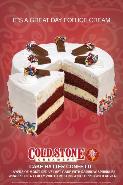 Cold Stone Creamery Ice Cream Wedding Cake