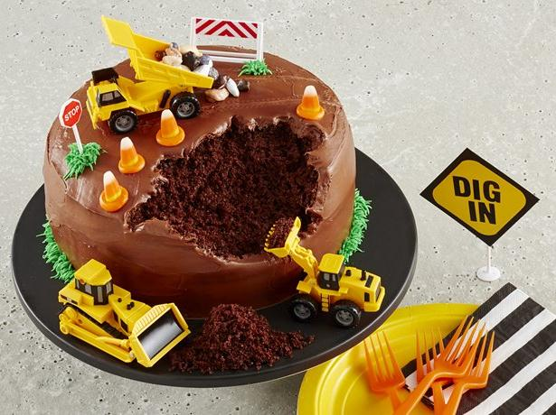 13 Photos of Simple Construction Theme Cakes