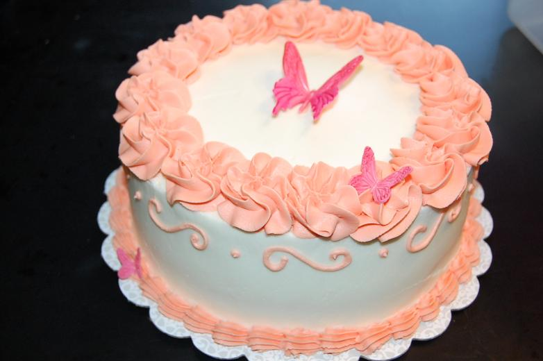 Coral Butterfly Cakes