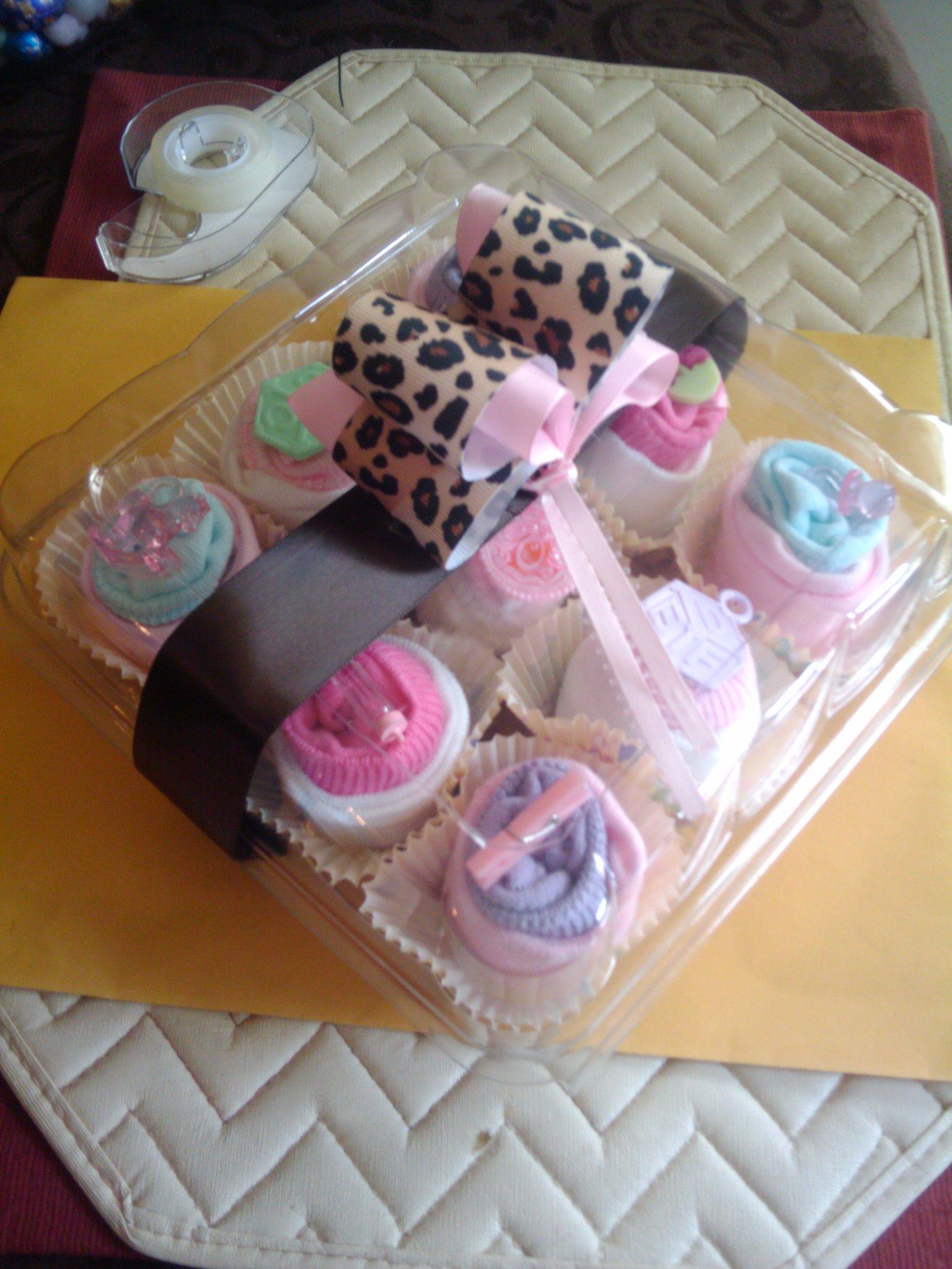 Cupcake Idea Baby Shower Socks