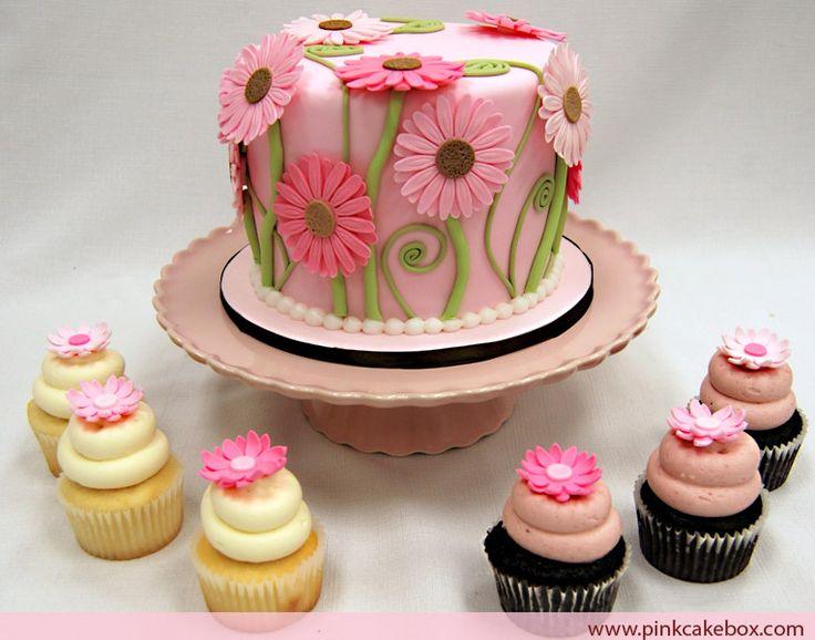 Cupcake Idea Wedding Shower Cake