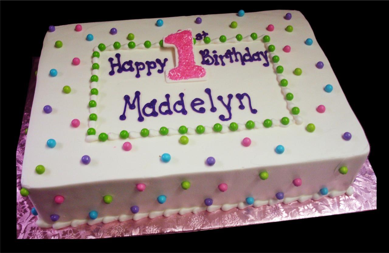 Decorated Birthday Sheet Cakes