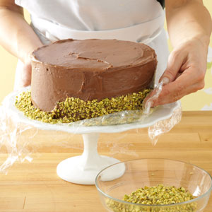Decorating Cake with Nuts