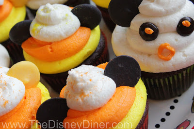 Disney Halloween Candy Corn Cupcakes