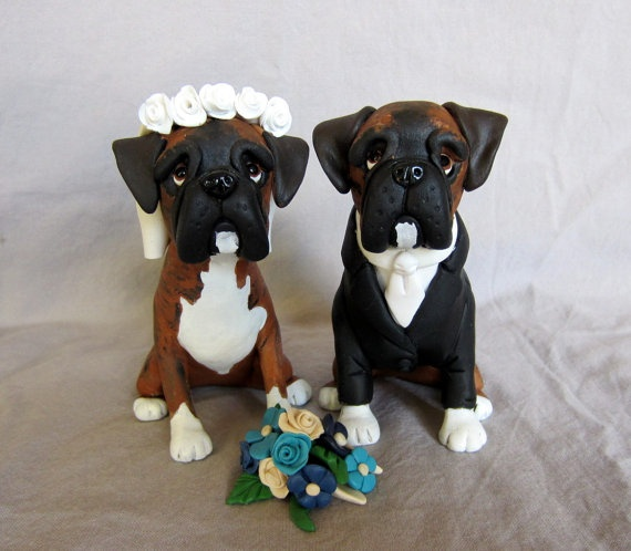 Dogs and Cats Wedding Cake Topper