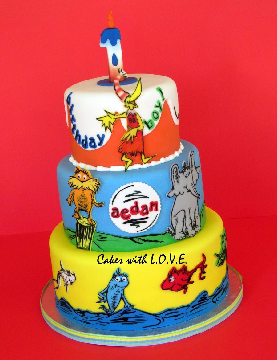 6 Photos of Dr. Seuss Themed Sheet Cakes