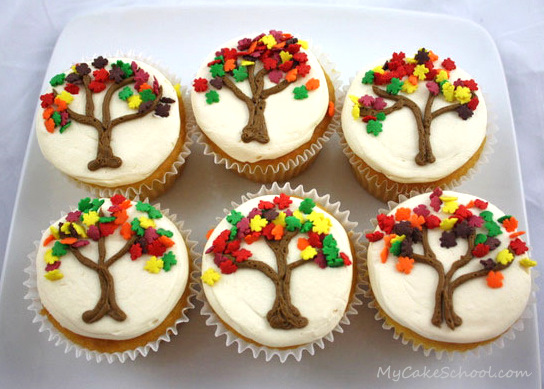 Easy Fall Cupcakes