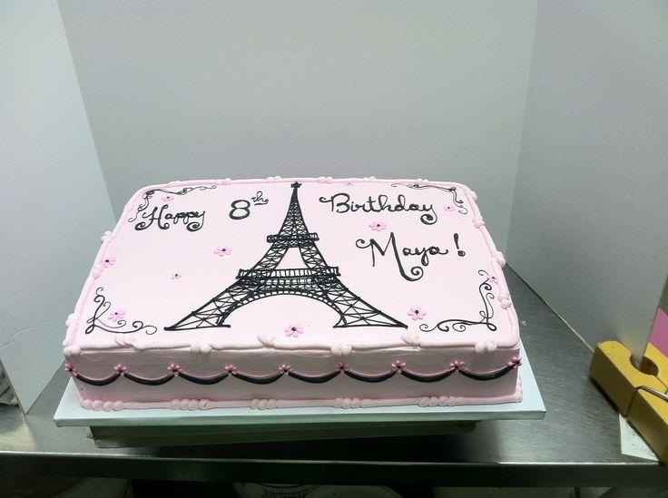 13 Photos of Eiffel Tower Paris Themed Sheet Cakes