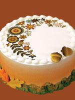 Fall Birthday Round Cake