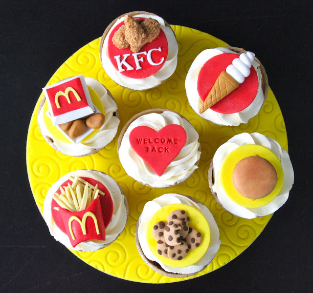 Fast Food Themed Cupcakes