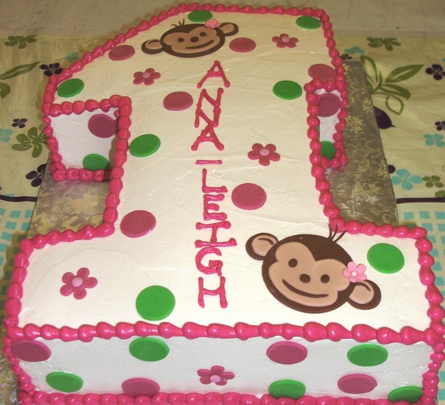 First Birthday Half Sheet Cake