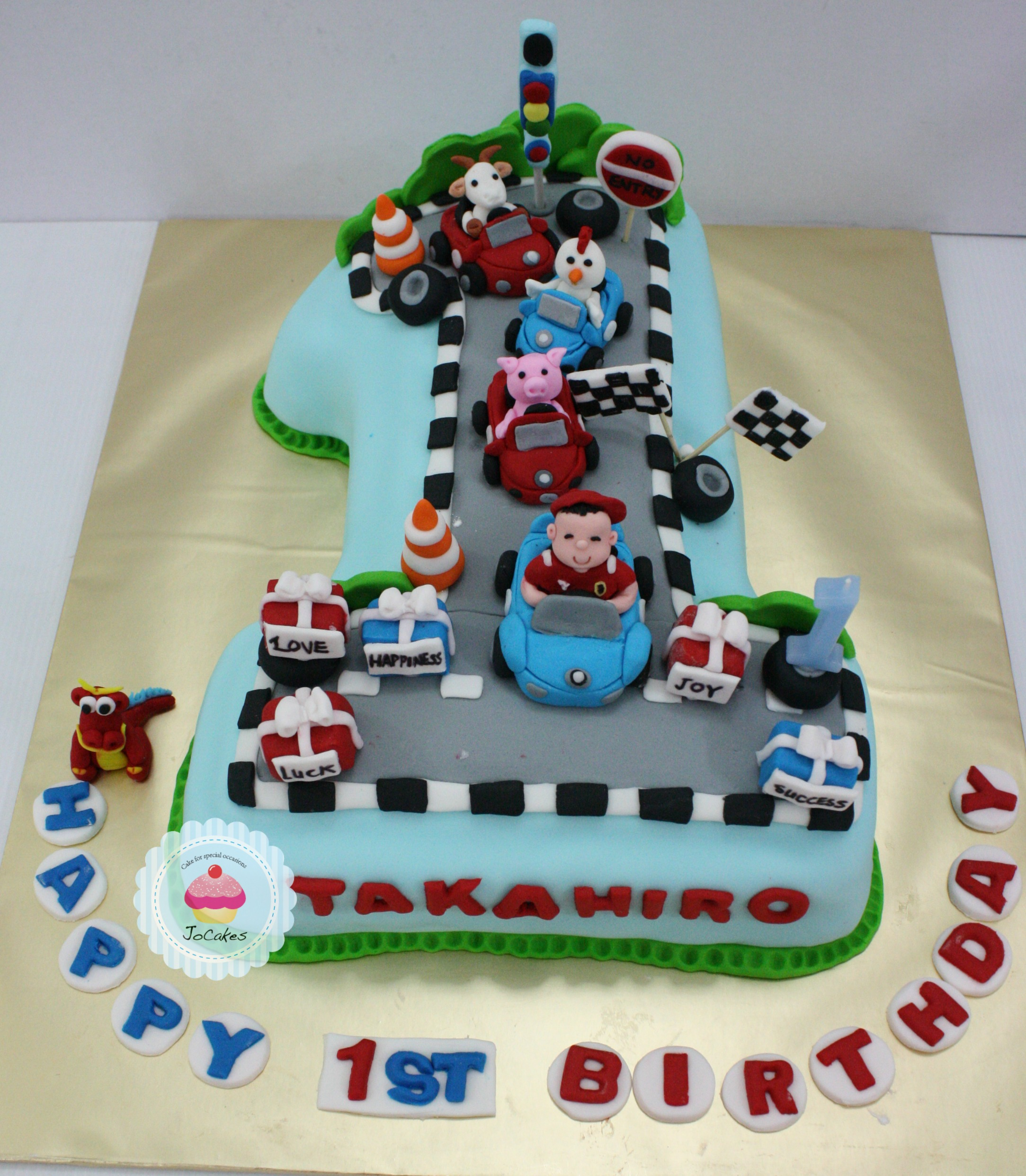 First Birthday Number Cakes for Boys