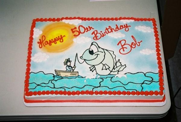 Fishing Birthday Sheet Cakes