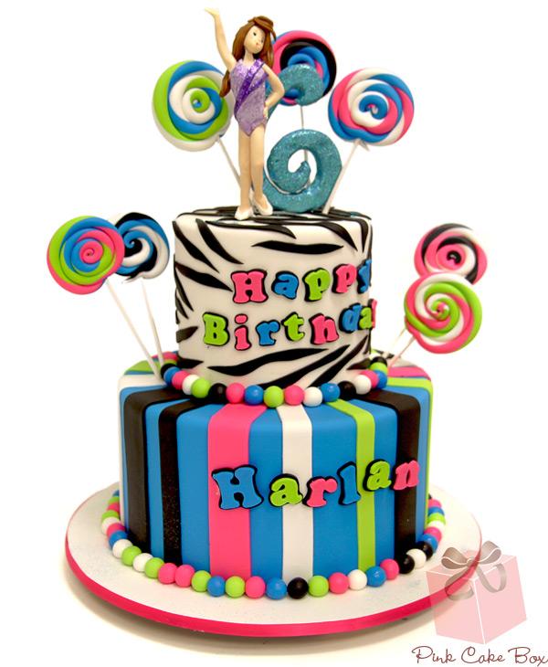 Girls Candy Birthday Cake