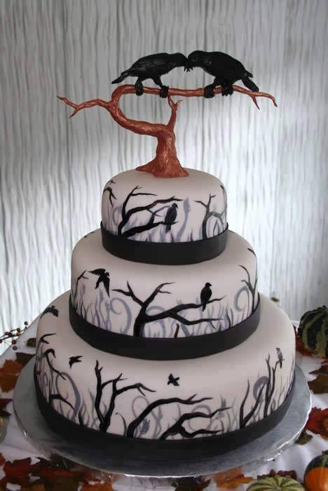 Gothic Halloween Wedding Cake