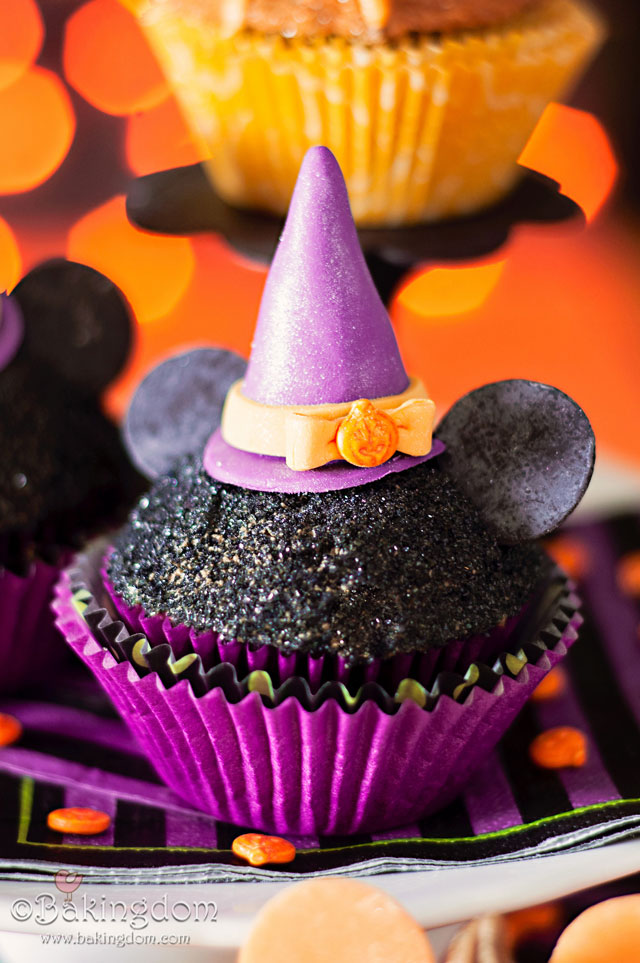 Halloween Minnie Mouse Cupcakes