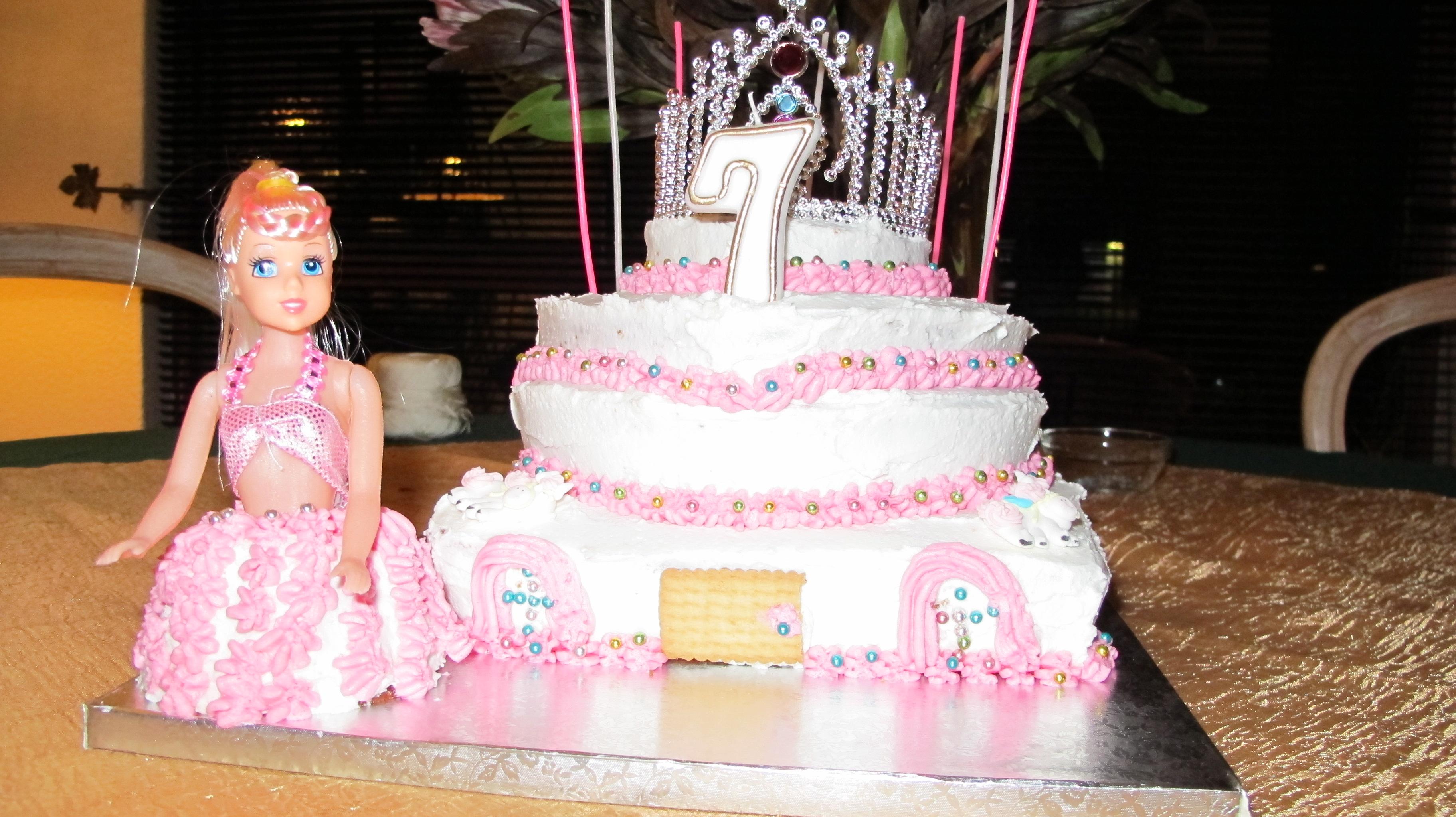 Happy 7th Birthday Princess Cake