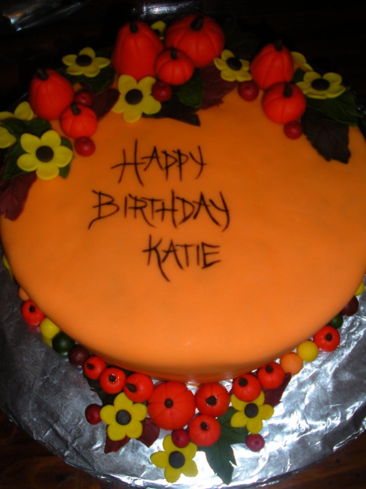 Happy Fall Birthday Cake