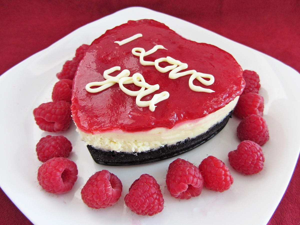 Heart Valentine's Day Cheesecake