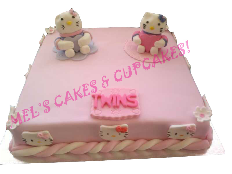 Hello Kitty Baby Shower Cupcakes