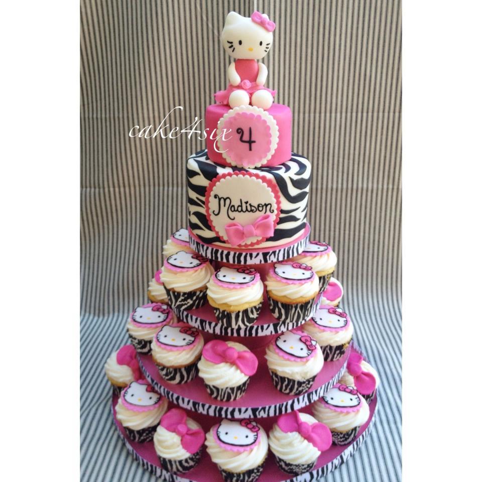 Hello Kitty Cupcake Tower Cakes