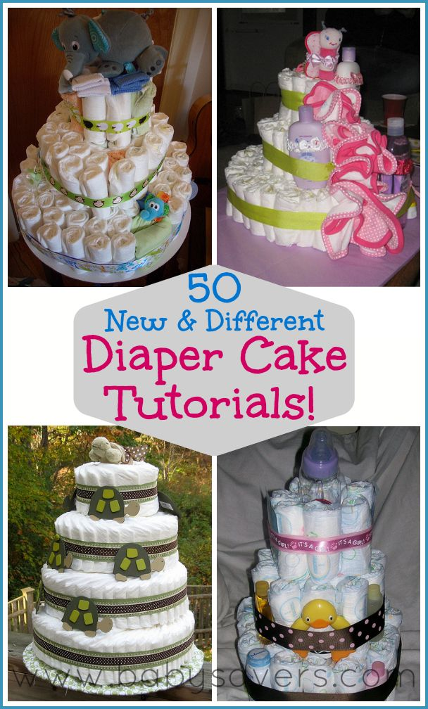 How to Make Baby Diaper Shower Cakes