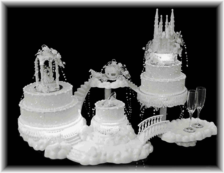 Huge Fairy Tale Wedding Cakes
