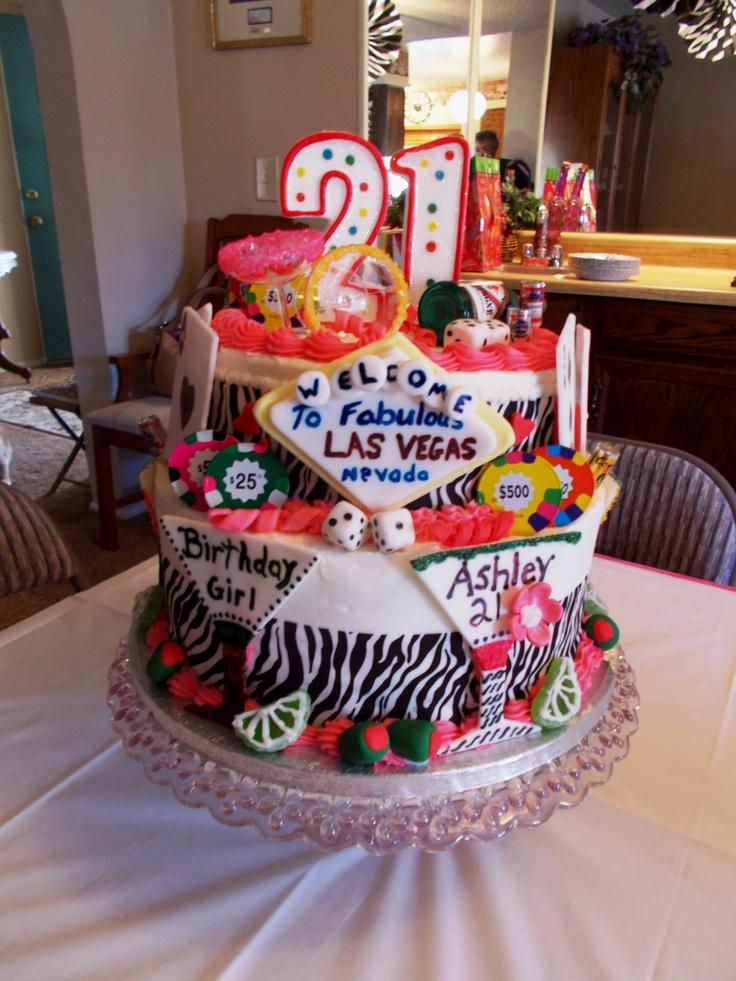 Las Vegas Themed 21st Birthday Cake
