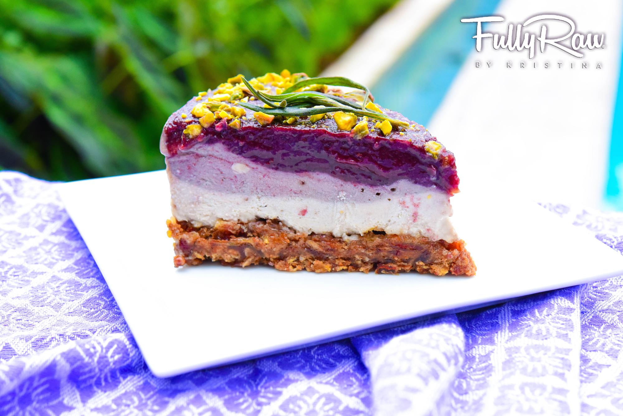 Lavender Cheesecake Raw Vegan