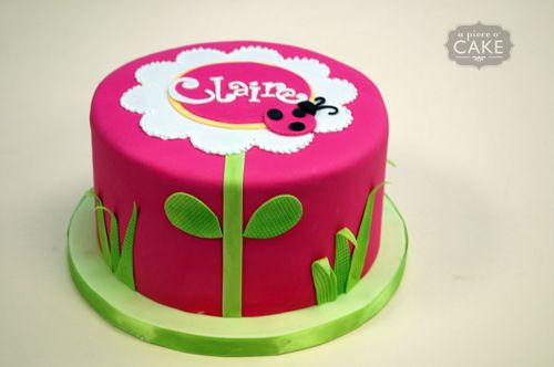 Little Girl Flower Birthday Cake