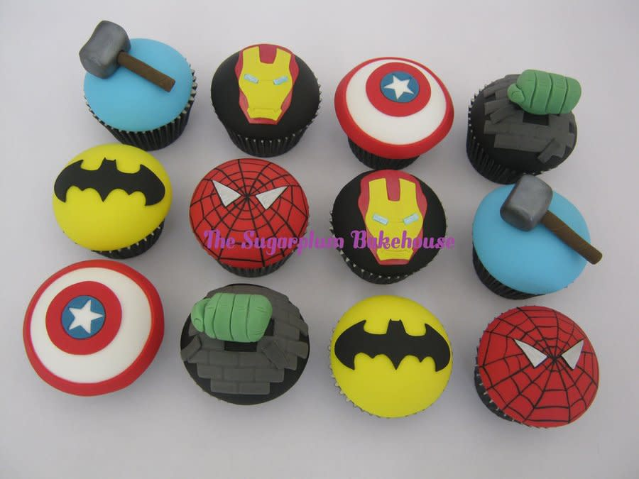 Marvel DC Comic Cupcakes