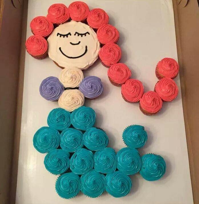 Mermaid Cupcake Cake Ideas