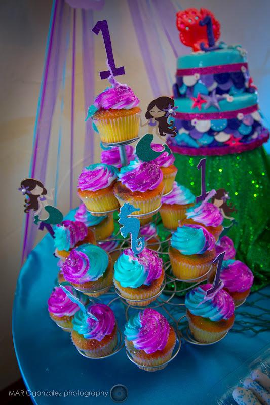 Mermaid Shaped Cupcake Cake
